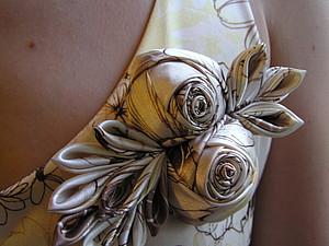 Роза из ткани handmade