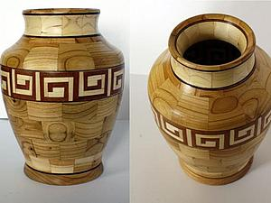 """Мастер-класс: изготовление сегментной вазы """"Греческий мотив"""". Ярмарка Мастеров - ручная работа, handmade."""