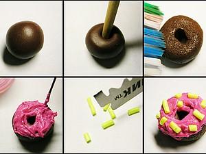 обычный пончик из пластики | Ярмарка Мастеров - ручная работа, handmade