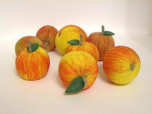 Мастер-класс по сухому валянию яблока | Ярмарка Мастеров - ручная работа, handmade