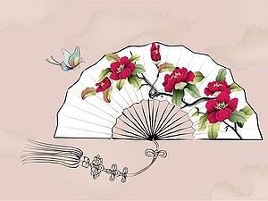 «Полет пурпурной бабочки» — взмах китайского боевого веера. Ярмарка Мастеров - ручная работа, handmade.