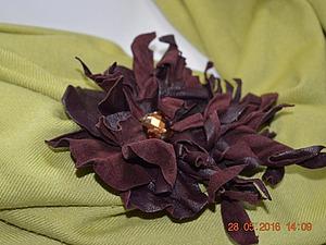Создаем цветок-брошь «Фантазия» из натуральной кожи. Ярмарка Мастеров - ручная работа, handmade.