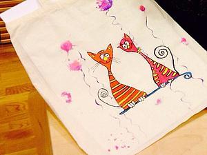 Роспись текстильных изделий: эко - сумка. | Ярмарка Мастеров - ручная работа, handmade
