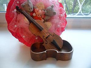 Как сделать шкатулку в форме скрипки | Ярмарка Мастеров - ручная работа, handmade
