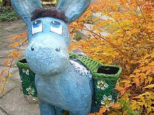 Делаем ослика для украшения дачного газона. Ярмарка Мастеров - ручная работа, handmade.
