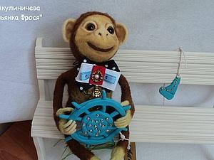 Создание игрушки «Обезьянка Фрося» в технике сухого валяния | Ярмарка Мастеров - ручная работа, handmade