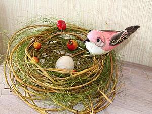 """Создаем декор к Пасхе. """"Гнездо"""". Ярмарка Мастеров - ручная работа, handmade."""