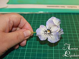 Цветы из холодного фарфора Анютины глазки ,часть 1 | Ярмарка Мастеров - ручная работа, handmade