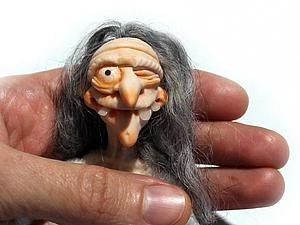 Видео мастер-класс: Баба Яга из полимерной глины. Часть 1: лепим голову. Ярмарка Мастеров - ручная работа, handmade.