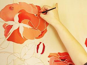 Рисуем цветы в технике холодного батика. Ярмарка Мастеров - ручная работа, handmade.