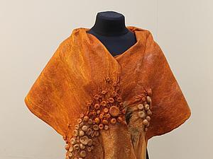 Подарок к 8 марта. Палантин с элементами  шибори | Ярмарка Мастеров - ручная работа, handmade