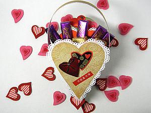 Коробка-упаковка для конфет в форме сердца. Ярмарка Мастеров - ручная работа, handmade.