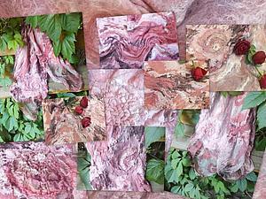 Палантин с элементами шибори. | Ярмарка Мастеров - ручная работа, handmade