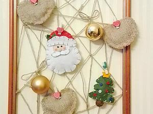 Делаем новогоднее панно из рамки для фотографий. Ярмарка Мастеров - ручная работа, handmade.