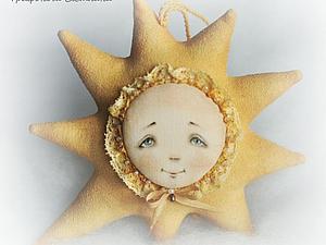 МК по подвесному украшению - солнышку с росписью личика   Ярмарка Мастеров - ручная работа, handmade