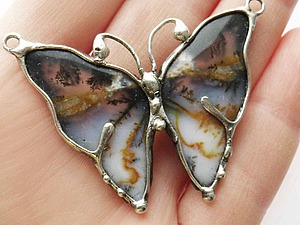 Рождение бабочки. Мастер-класс по созданию украшения в технике «Тиффани». Ярмарка Мастеров - ручная работа, handmade.