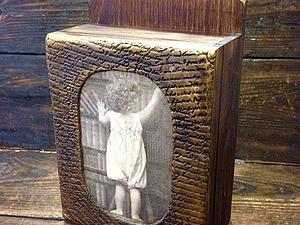 Мастер-класс «Ключик от детства» - декор ключницы, имитация резьбы   Ярмарка Мастеров - ручная работа, handmade