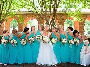 Свадьба в бирюзовом цвете: варианты стильных нарядов и декора. Ярмарка Мастеров - ручная работа, handmade.
