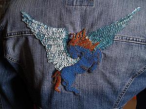 Делаем джинсовое болеро с бисерной вышивкой — преображаем старую куртку | Ярмарка Мастеров - ручная работа, handmade