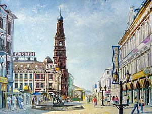 Моя любимая Казань - авторская живопись Жалдак Э.А. | Ярмарка Мастеров - ручная работа, handmade