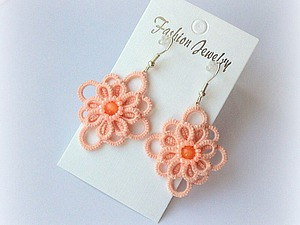 Аукцион на очаровательные сережки персикового цвета | Ярмарка Мастеров - ручная работа, handmade