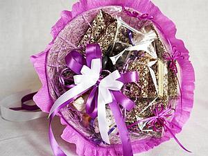 Разыгрывается Валентинка!!! Букет из чая и сладостей | Ярмарка Мастеров - ручная работа, handmade