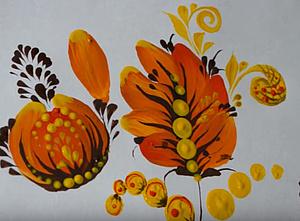 Видеоурок: прописываем цветок в технике петриковской росписи. Ярмарка Мастеров - ручная работа, handmade.