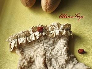 Немного интима, или снова о носочках, или МК по созданию винтажных штанишек для куклы, handmade