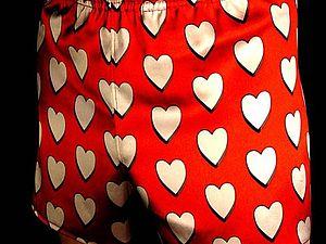 Трусы для любимого ко дню Св. Валентина. | Ярмарка Мастеров - ручная работа, handmade