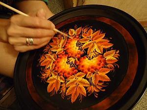 Тагильская роспись: пишем рябину. Видео мастер-класс. Ярмарка Мастеров - ручная работа, handmade.