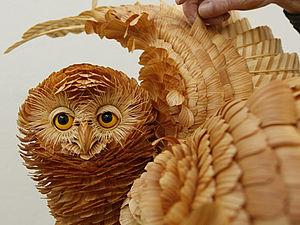 Животные из стружки | Ярмарка Мастеров - ручная работа, handmade