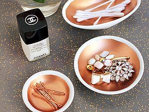 Блюдечко с золотой каёмочкой | Ярмарка Мастеров - ручная работа, handmade