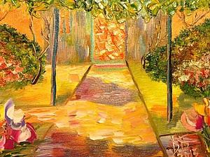 Пишем маслом за 3 часа картину «Солнечный дворик». Ярмарка Мастеров - ручная работа, handmade.