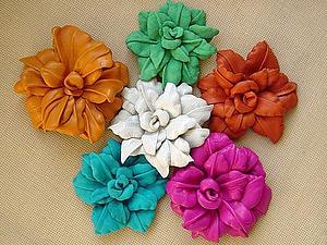 Создаем кожаный цветок | Ярмарка Мастеров - ручная работа, handmade