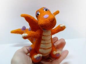 Валяем симпатичного дракончика | Ярмарка Мастеров - ручная работа, handmade