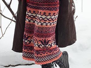 Вяжем жаккардовую юбку с застежкой. Ярмарка Мастеров - ручная работа, handmade.