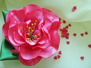 Цветы из атласной ленты | Ярмарка Мастеров - ручная работа, handmade