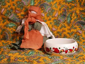 Роспись браслета в русском народном стиле. Ярмарка Мастеров - ручная работа, handmade.