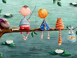Волшебные иллюстрации Элис Элины! | Ярмарка Мастеров - ручная работа, handmade