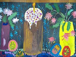Пасхальная композиция. Рисуем с детьми. Ярмарка Мастеров - ручная работа, handmade.
