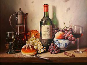 Фруктово-винные натюрморты Raymond Campbell | Ярмарка Мастеров - ручная работа, handmade