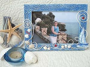 Создаем рамку для фотографий «Море — навсегда!». Ярмарка Мастеров - ручная работа, handmade.