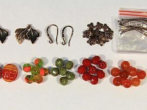 Мастер-класс по изготовлению серёжек «Осенняя листва». Ярмарка Мастеров - ручная работа, handmade.