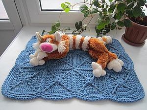 Вяжем коврик-лежанку для кошки. Ярмарка Мастеров - ручная работа, handmade.