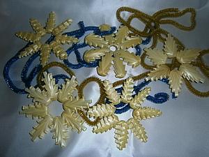 Мастерим новогодние снежинки из соломки и не только.... Ярмарка Мастеров - ручная работа, handmade.