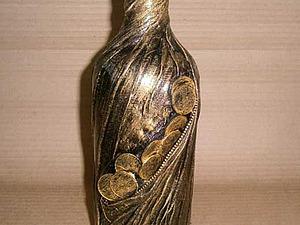 Декорируем вазу тканью и монетами. Ярмарка Мастеров - ручная работа, handmade.