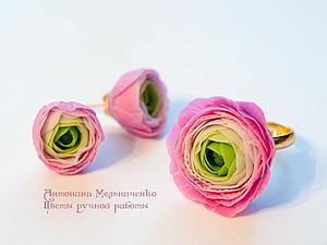 Цветы из холодного фарфора - Часть 4. Ранункулюсы | Ярмарка Мастеров - ручная работа, handmade