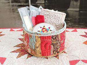 Мастер-класс: текстильная корзинка с элементами трапунто. Ярмарка Мастеров - ручная работа, handmade.