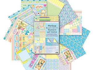 Новая скрап бумага в детской тематике | Ярмарка Мастеров - ручная работа, handmade