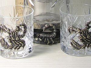 Процесс изготовления бронзовой накладки «Скорпион» на бокалы. Ярмарка Мастеров - ручная работа, handmade.